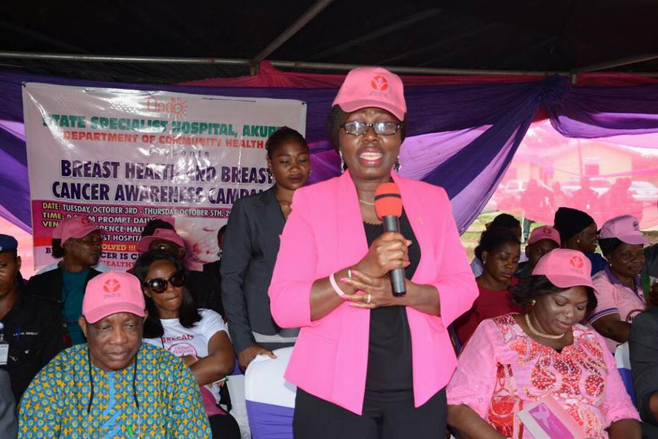 Ondo First Lady Preaches message of Hope as Ondo State Specialist Hospital Mark Breast Cancer Awareness Month