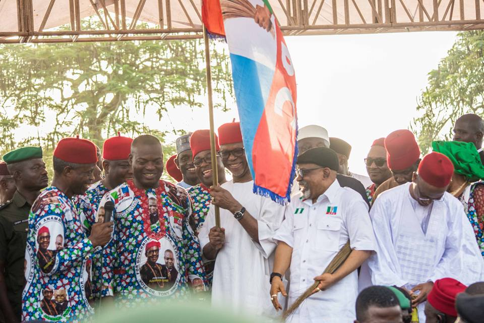 Anambra Governorship: Elect Tony Nwoye As Present to President Buhari, Oyegun Tells State Electorate  ·SaysAPC Provides 'Clearest Path' For Igbo Presidency