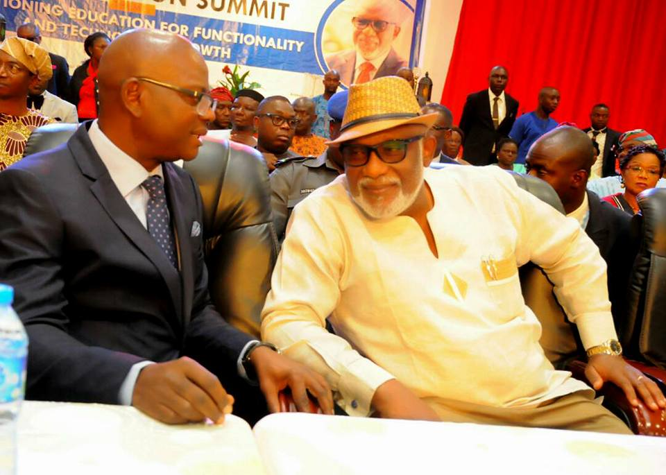 ADDRESS DELIVERED BY THE GOVERNOR OF ONDO STATE ARAKUNRIN OLUWAROTIMI ODUNAYO AKEREDOLU, SAN AT THE 2017 ONDO STATE EDUCATION SUMMIT HELD AT THE INTERNATIONAL CULTURE AND EVENTS CENTRE (THE DOME) IGBATORO ROAD, AKURE ON THURSDAY, 26TH OCTOBER, 2017
