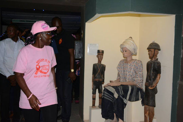 Photos:  Betty Akeredolu leads Members of the BRECAN on a tour of Idanre hills