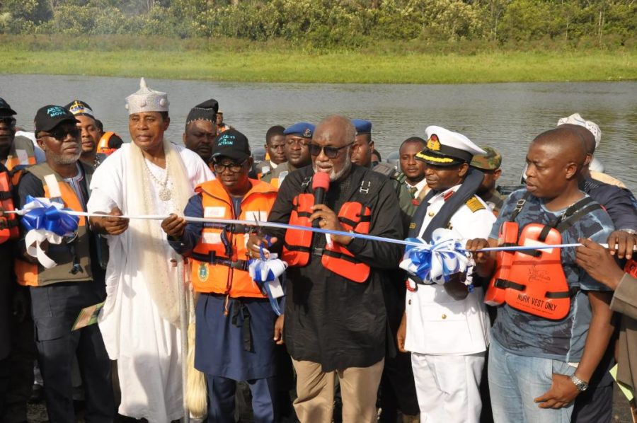 Gov. Akeredolu reiterates commitment to security as ten surveillance boats commissioned for Naval Patrol