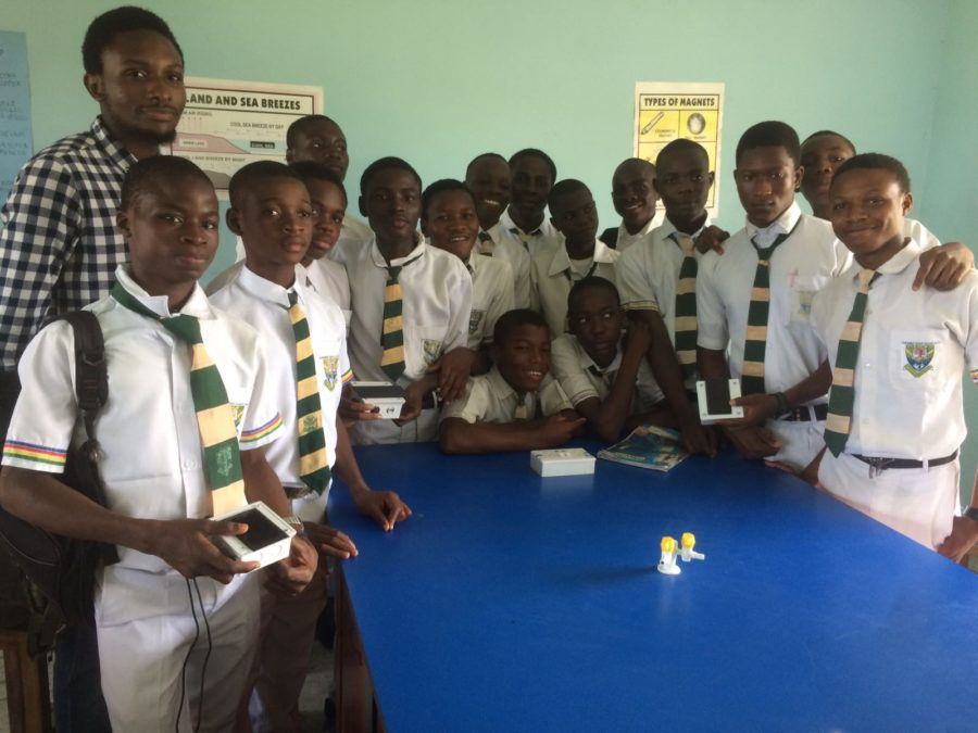 Azuri and solar technology helping to inspire students in Nigeria to study science, technology, engineering and maths as part of Bright Hands project