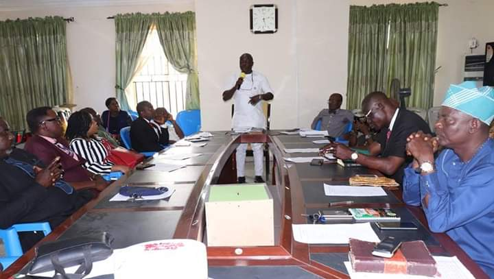 2019 OSOPADEC Prayer Meeting: Edema encourages Staff to improve on previous year
