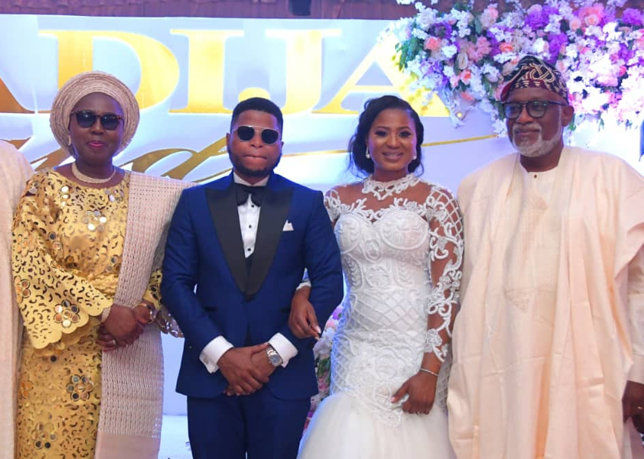 Gov Akeredolu, wife, others grace Agagu's son's wedding in Lagos