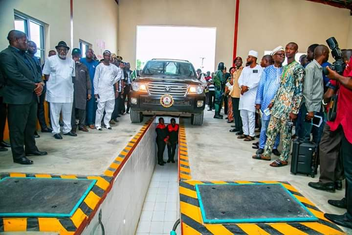 Akeredolu Commissions Computerised Vehicle Inspection Center in Ondo