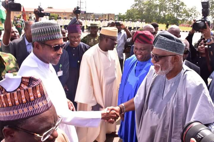 Akeredolu Joins Amosun, other South West Governors To Welcome President Buhari to Ogun State