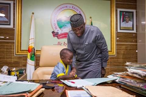 Photos: Fayemi Keeps Promise To Young Schoolboy
