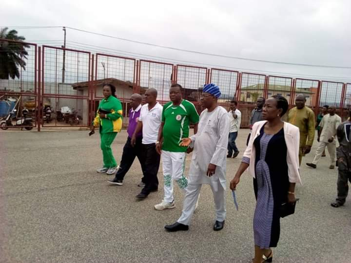 Sports Commissioner, Owanikin Inspects  Facilities At Sports Complex, Commend Athletes Performance At Sports Meets