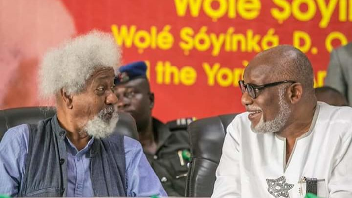 Prof. Soyinka, a conscience of the nation, says Gov. Akeredolu