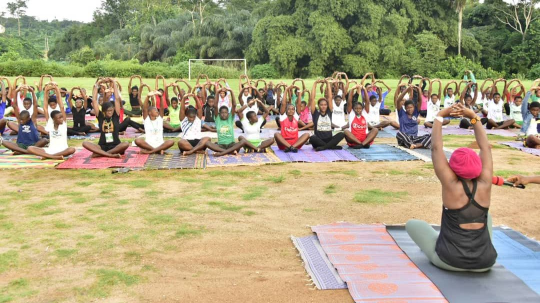BEMORE BootCamp: Mrs Akeredolu recommends Yoga exercise for Nigerians against health challenges
