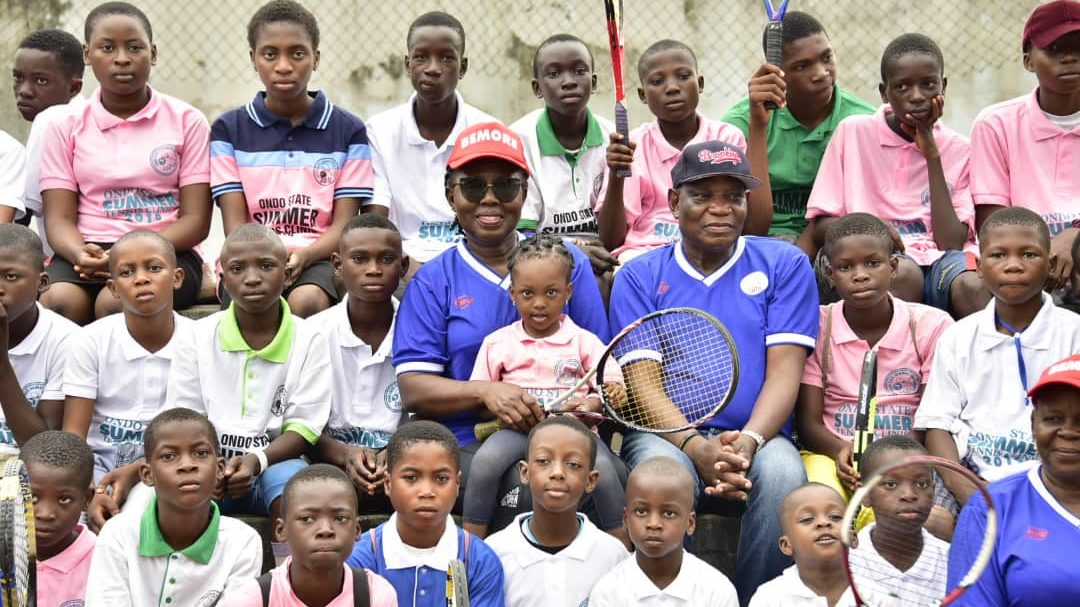 Ondo First Lady flags off 2019 summer tennis clinic