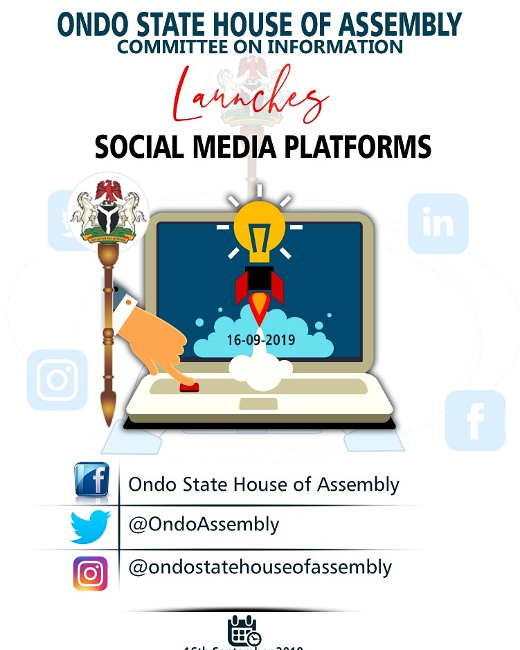 Ondo State House of Assembly Launches Social Media Platforms