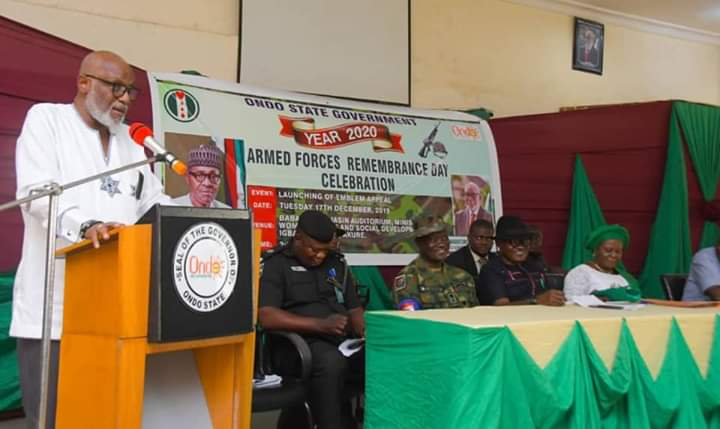 We will always honour our military personnel – Akeredolu