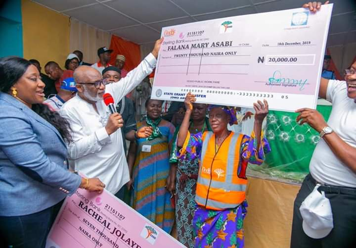 Akeredolu flags-off special grants for elderly, physically challenge in Ondo
