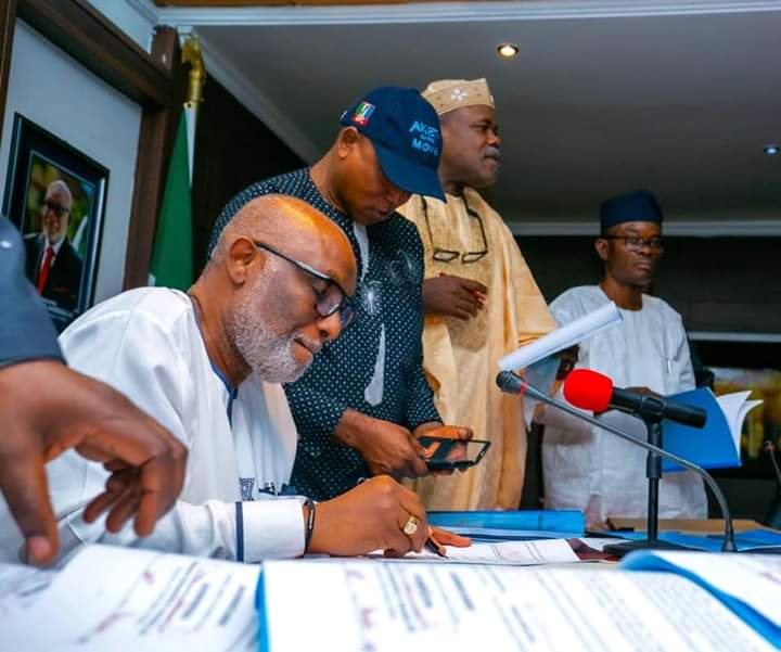 Akeredolu signs N187b 2020 budget into law