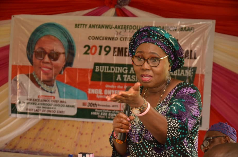 Faces at Emeabiam Town Hall Meeting With Betty Anyanwu Akeredolu