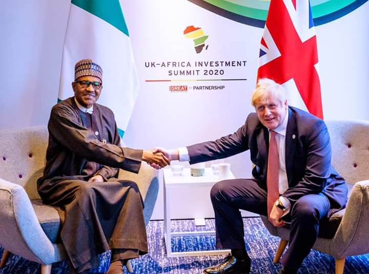 GAINS WE'VE MADE ON DIFFERENT FRONTS, BY PRESIDENT BUHARI IN MEETING WITH BRITISH P.M