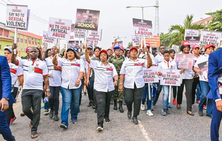 Lagos First Lady leads walk against Child Abuse