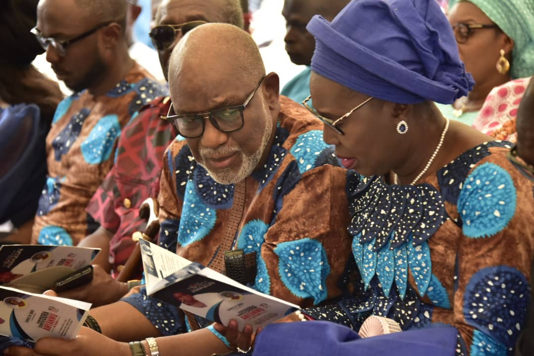 PHOTOS: Gov Akeredolu, his wife, others at Service of Songs for Ondo First Lady's late mother