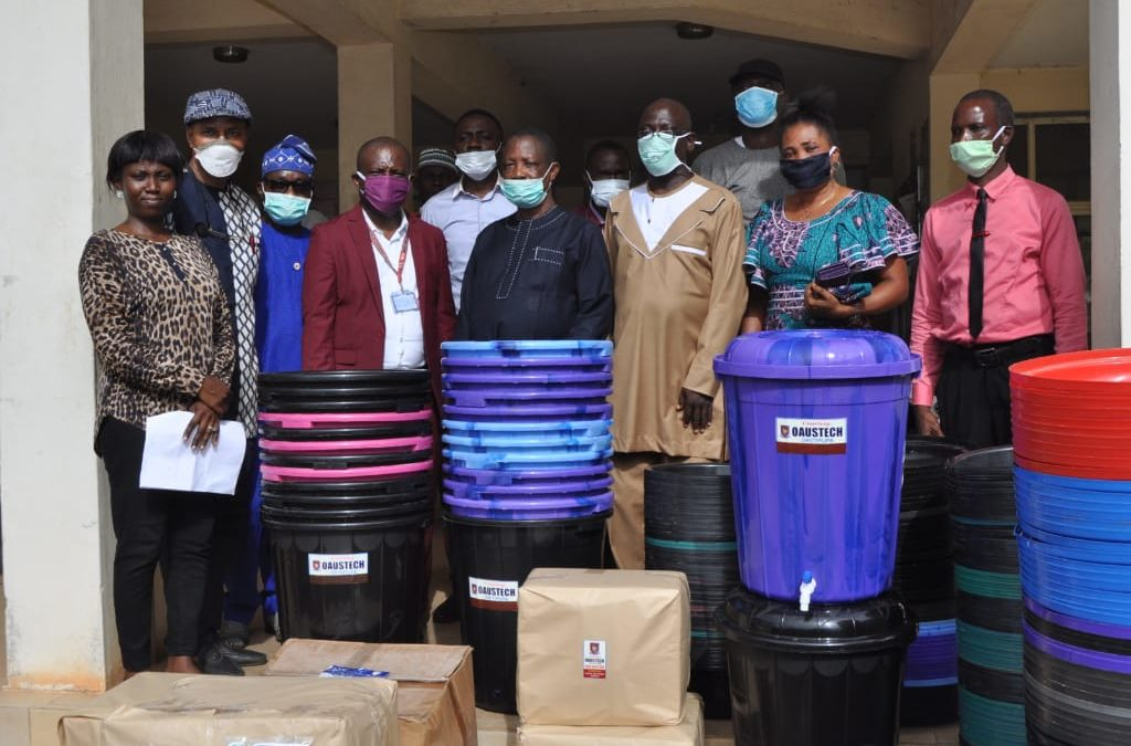COVID-19: OAUSTECH embarks on research, donates preventive items to ODSG