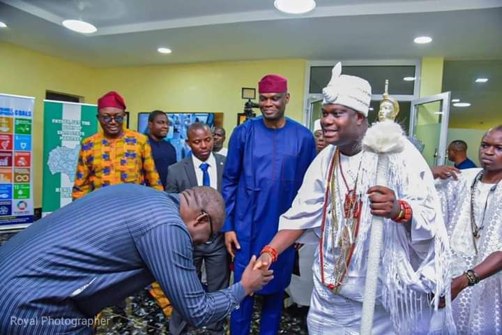 Ooni embraces Governor Fayemi's tourism vision