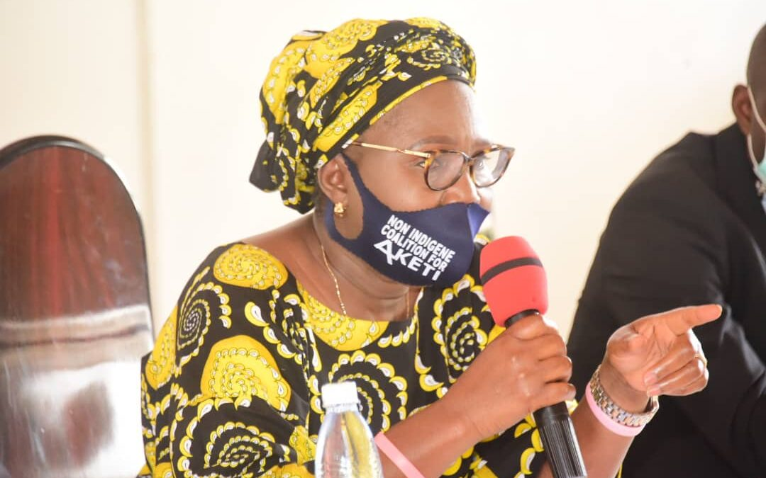 """""""I'll be there to protect your interest"""", Mrs. Akeredolu assures non-indigenes"""
