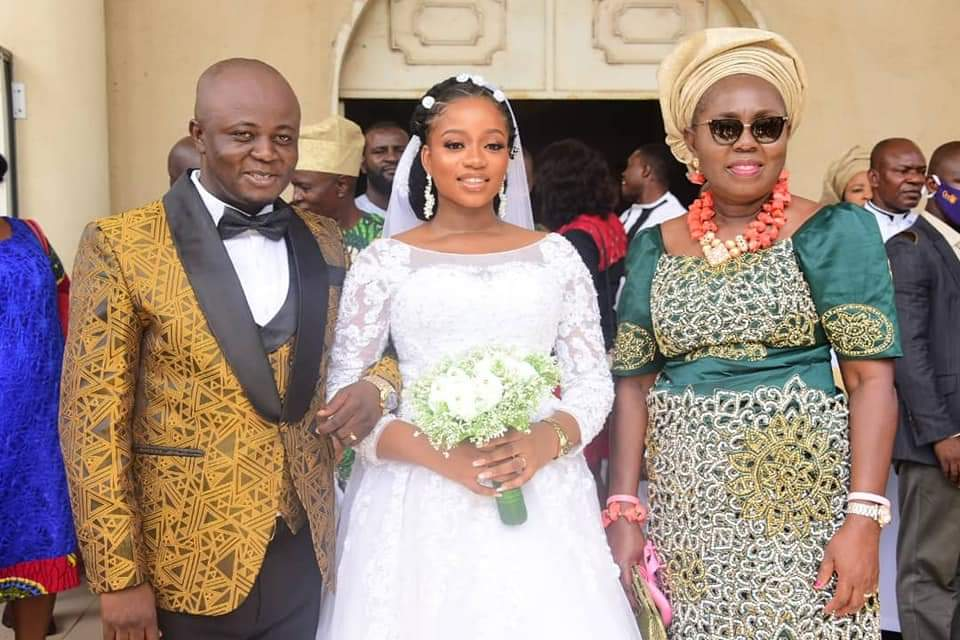 PHOTOS: Ondo First Lady attends Janet and Rowland's wedding