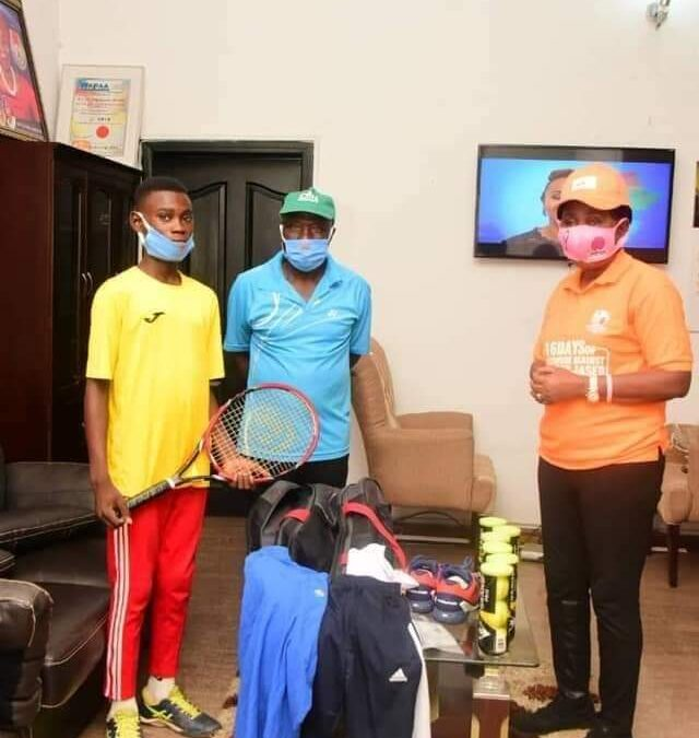 14 Yrs old Arabirin Tennis Club's Protege shines at CBN Tournament, emerges best in S/W