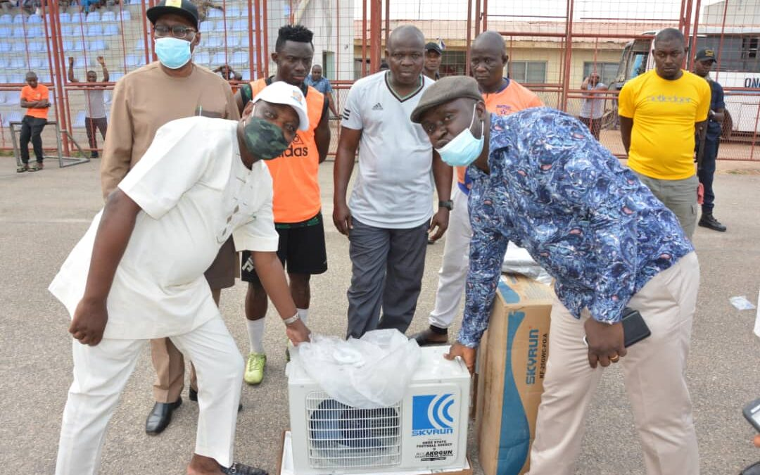 Towards an enhanced performance, lawmaker donates to Sunshine stars FC