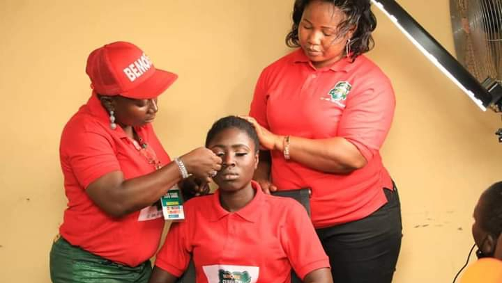 Day9@#BeMoreOndo2021! Girls acquire knowledge in Make-up, Baking and BSE